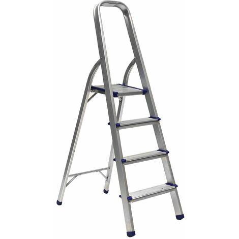 Stehleiter Trittleiter Mit 4 Stufen Leicht Zusammenklappbar Aluminium Lad04