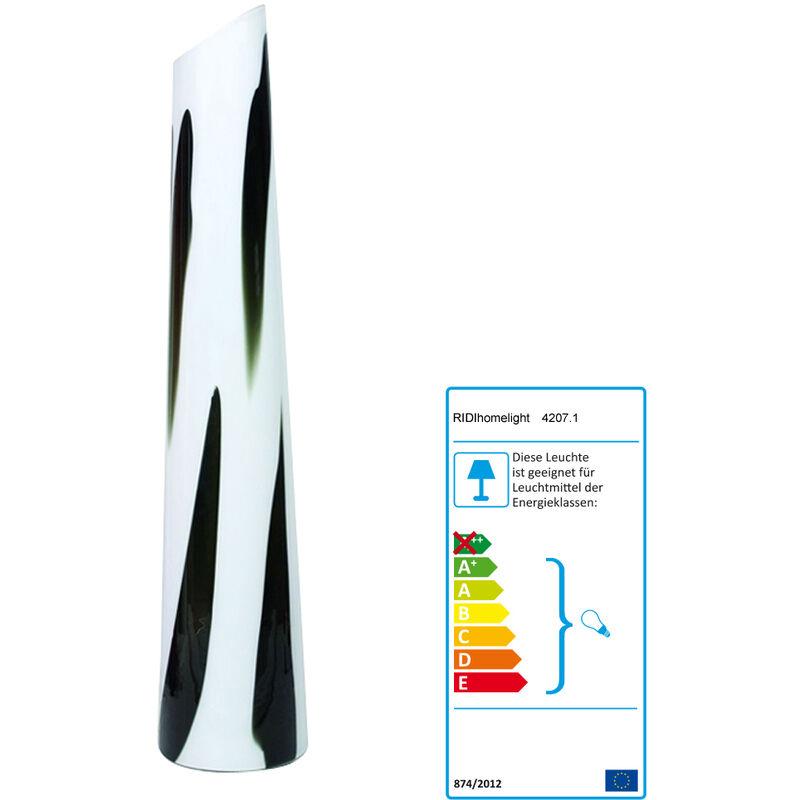 Ridihomelight - Stehleuchte 1150, weiß/schwarz, Höhe 115 cm