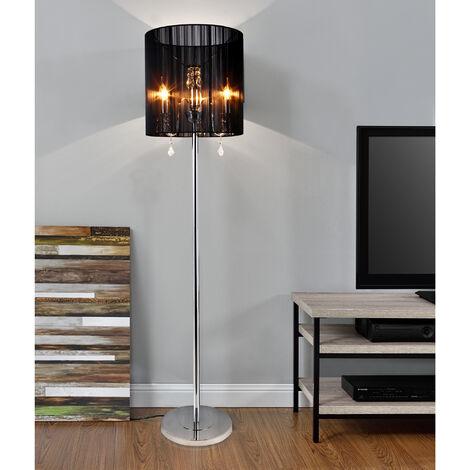 Antonio Miro Stehlampe Schwarz 60W Chrom Bogenlampe Stehleuchte Standleuchte
