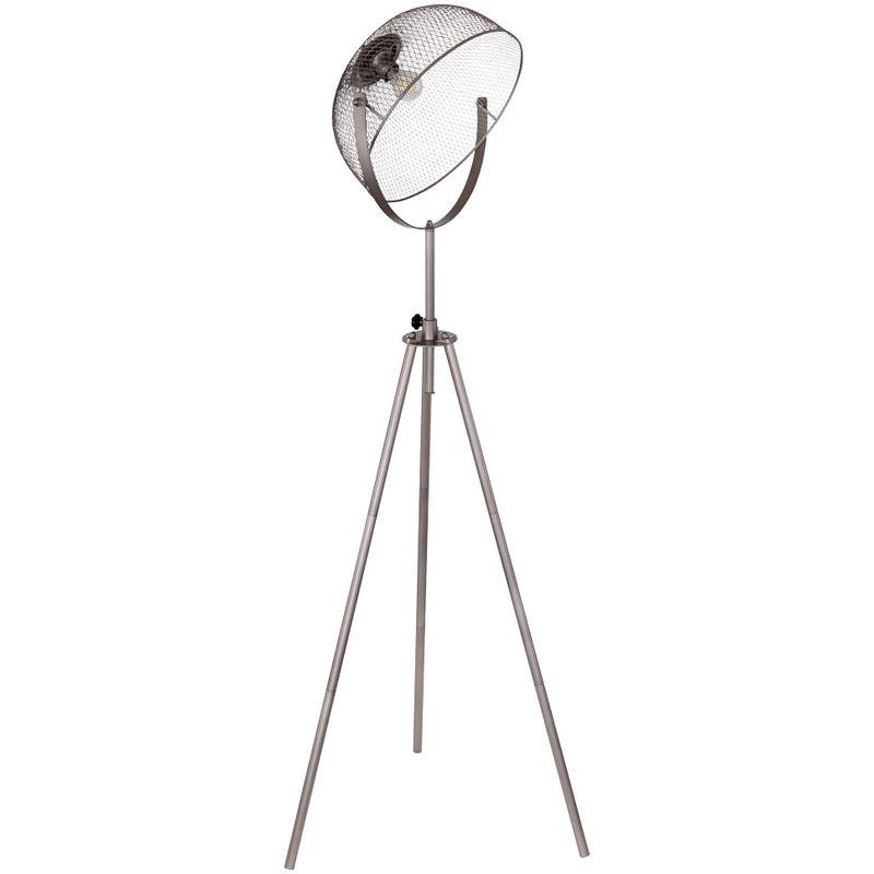 Stativ Steh Leuchte 3-Bein Spot verstellbar Käfig Lampe Decken Fluter Gitter Strahler Globo 54325S