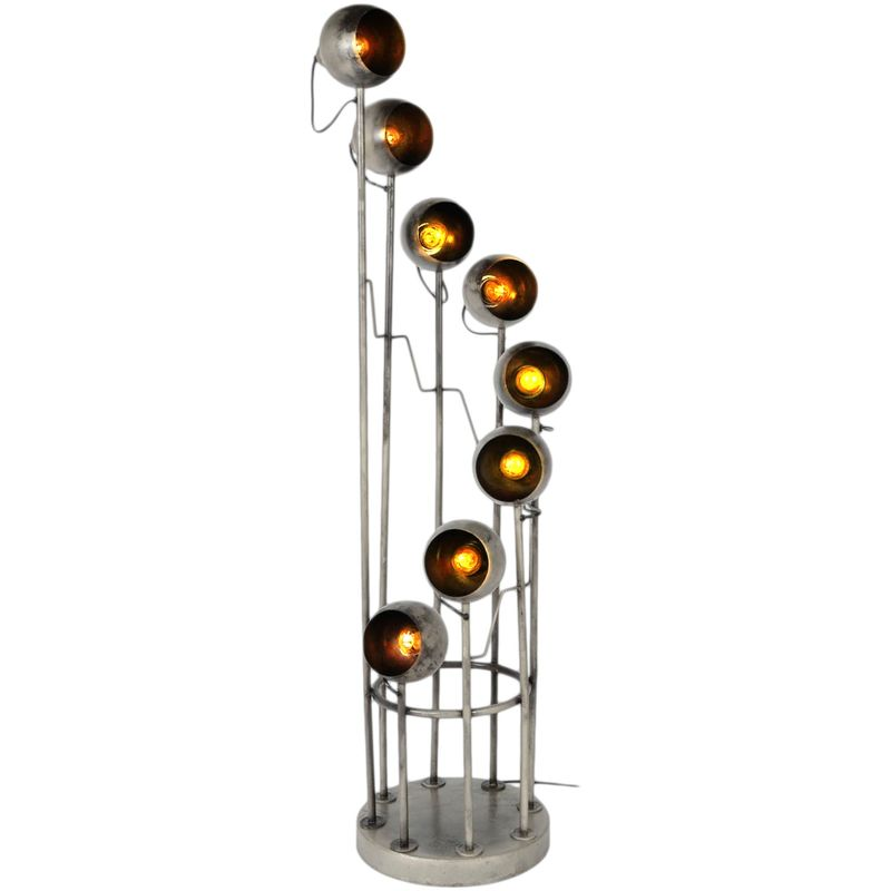 Stehleuchte Peters-Living 3518872 Standlampe 8x E27 Spots Vintage