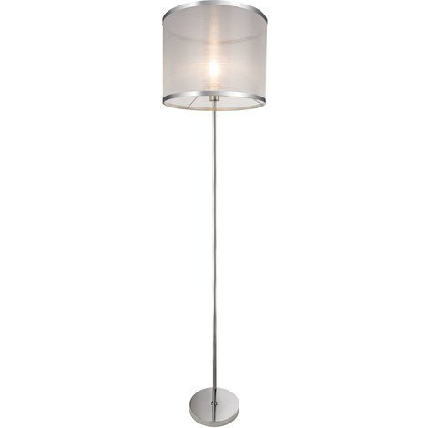 Außenleuchte Stehlampe Stehleuchte Weiß Chrom Schwarz H 155cm IP44 Garten