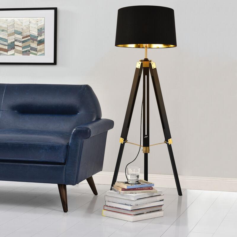 Stehleuchte Stativ Stehlampe Standleuchte Stand Lampe Metall Schwarz - [LUX.PRO]