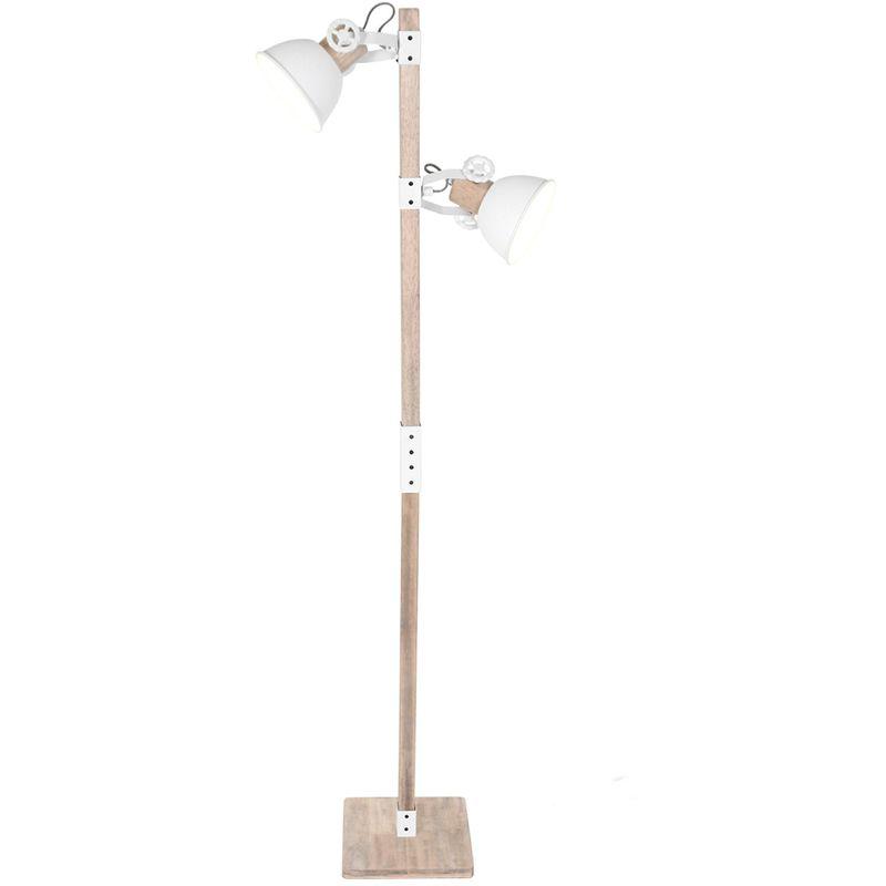 Stehleuchte Steinhauer 2666W Weiß Vintage Standlampe 2x E27
