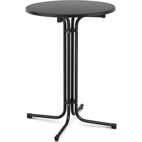 Stehtisch Bistrotisch klappbar Bistro Tisch Bartisch Gastro rund Ø 80 cm schwarz