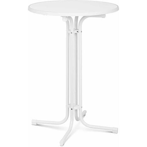 Stehtisch klappbar Bistrotisch Bistro Tisch Bartisch Gastro rund Ø 80 cm weiß
