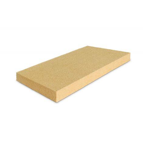 STEICO FLEX 036 : Panneau isolant en laine de bois semi-rigide isolant thermique - 40mm (R : 1,10) - 40mm (R : 1,10) | paquet(s) de 7.02 m² - 10 panneaux