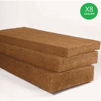 STEICO Flex 100x1220x575 vendu par lot de 32 panneaux soit 22,48m² (8 paquets) - lot(s) de 22,48m²