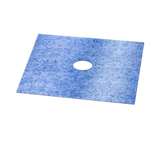 STEIGNER 1x Manchette d\'étanchéité murale pour douche à l'italienne Scellement de Carreaux Imperméabilisation du Receveur de Douche 12x12 cm
