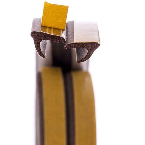 STEIGNER 5 m Joint de Fenêtre Autocollant Profil V Blanc Joint en Caoutchouc EPDM Joint d\'Étanchéité - Blanc