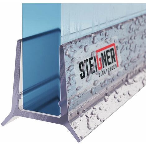 STEIGNER Duschdichtung, Gerade PVC Ersatzdichtung für Dusche, UK24
