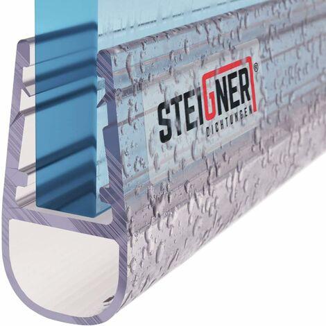 STEIGNER Duschdichtung, Glasstärke 3,5/4/ 5 mm, Gerade PVC Ersatzdichtung für Dusche, UK06