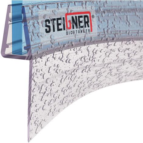 STEIGNER Duschdichtung, Glasstärke 3,5/4/ 5 mm, Gerade/Vorgebogene PVC Ersatzdichtung für Dusche, UK04/UK05