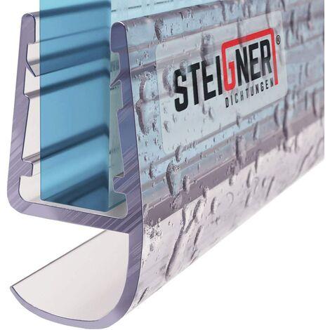 STEIGNER Duschdichtung, Glasstärke 5/6/ 7/8 mm, Gerade PVC Ersatzdichtung für Dusche, UK15