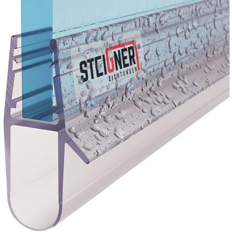 STEIGNER Duschdichtung, Glasstärke 5/6/ 7/8 mm, Gerade PVC Ersatzdichtung für Dusche, UK17