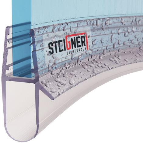 STEIGNER Duschdichtung, Glasstärke 5/6/ 7/8 mm, Vorgebogene PVC Ersatzdichtung für Runddusche, UK17