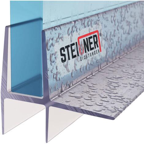 STEIGNER Duschdichtung, Glasstärke 5/6 mm, Gerade PVC Ersatzdichtung für Dusche, UK16