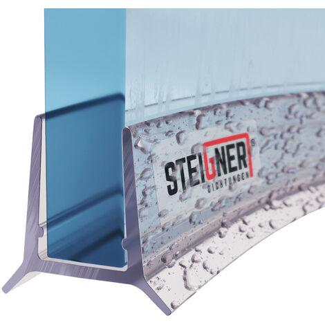 STEIGNER Duschdichtung, Glasstärke 5mm/ 6mm, Vorgebogene PVC Ersatzdichtung für Runddusche, UK24-06