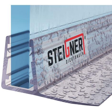 STEIGNER Duschdichtung, Glasstärke 6/7/ 8 mm, Gerade PVC Ersatzdichtung für Dusche, UK02