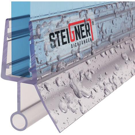 STEIGNER Duschdichtung, Glasstärke 6/7/ 8 mm, Gerade PVC Ersatzdichtung für Dusche, UK08