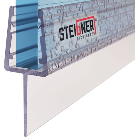 STEIGNER Duschdichtung, Glasstärke 6/7/ 8 mm, Gerade PVC Ersatzdichtung für Dusche, UK10