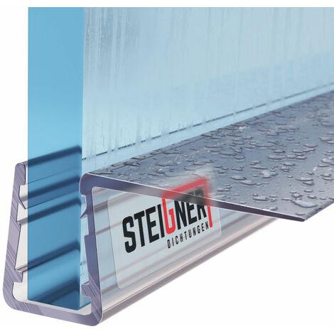 STEIGNER Duschdichtung, Glasstärke 6/7/ 8 mm, Gerade PVC Ersatzdichtung für Dusche, UK11