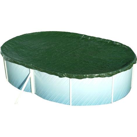 "Steinbach Abdeckplane ""Extra"" für ovale Swimming Pool Stahlwandbecken blau 730 x 370 cm"