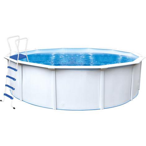 "Steinbach Stahlwand Swimming Pool Set ""Nuovo de Luxe"" weiß Ø 460 x 120 cm Inkl. Sandfilteranlage"