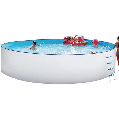 """Steinbach Swimming Pool """"Nuovo rund"""" weiß Ø 400 x 90 ohne Sandfilteranlage"""