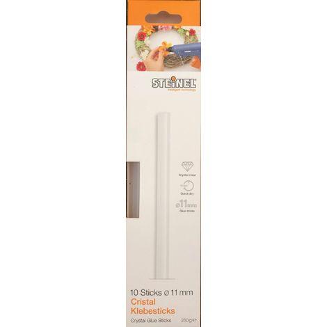 Steinel 10 Crystal Klebesticks Ø 11 mm, Schmelzklebestoff Klebestick für Heißklebepistole