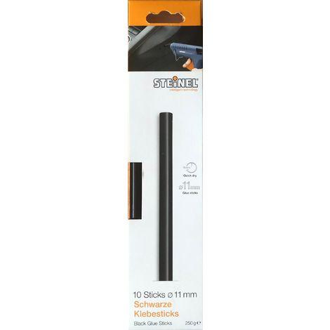 Steinel 10 Schwarze Klebesticks Ø 11 mm, Schmelzklebestoff Klebestick für Heißklebepistole schwarzes Material