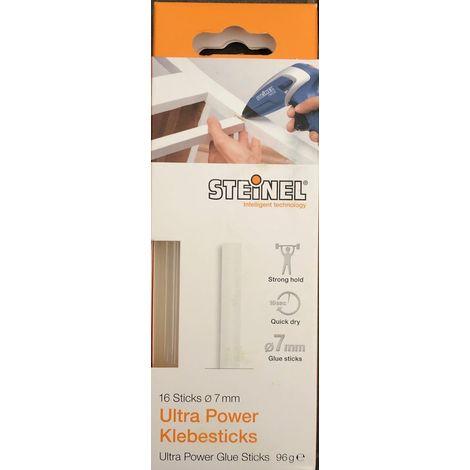 Steinel 16 Ultra Power Klebesticks Ø 7 mm, Schmelzklebestoff Klebestick für Heißklebepistole