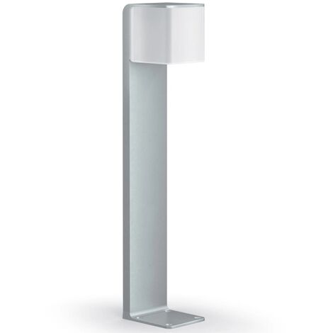 Steinel Bolardo de jardín con sensor GL 80 LED IHF CUBO plata 055486