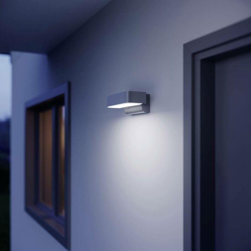 L 800 iHF 671419 LED-Außenwandleuchte mit Bewegungsmelder 10W Silber S44284 - Steinel