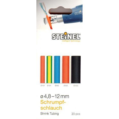 Steinel Schrumpfschlauch-Set 20x Schrumpfschläuche 4.8 – 12 mm