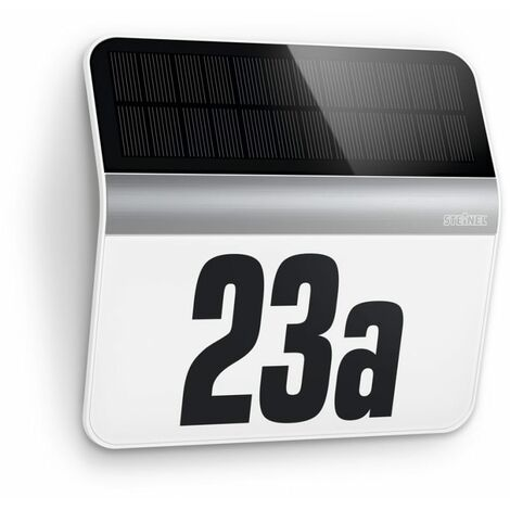 Steinel XSolar LH-N House Number LED Light Silver