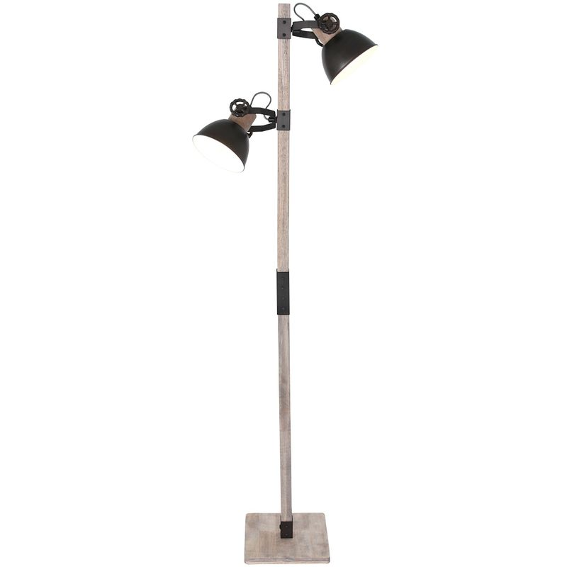 Stehleuchte Steinhauer 2666A Anthrazit Vintage Standlampe 2x E27