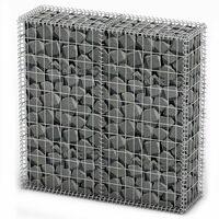 Steinkorb Gabione mit Deckeln Verzinkter Draht 100×100×30 cm