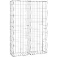 Steinkorb Gabione mit Deckeln Verzinkter Draht 150×100×30 cm