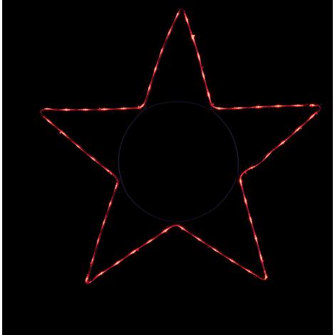 Stella Di Natale A Batteria.Stella Di Natale Luminosa Per Esterno Con Strisce Led Da 162 Led