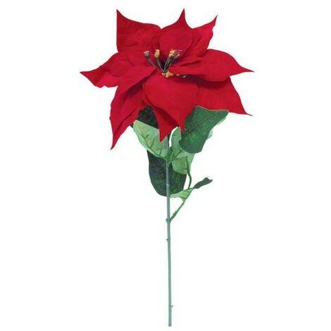 Stella Di Natale In Stoffa.Stella Di Natale Singola Colore Rosso Phome00310