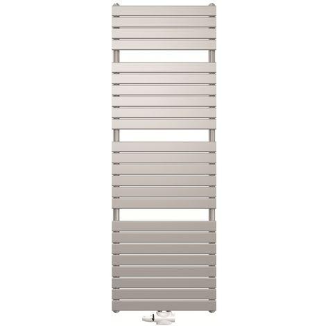 Stelrad Verona White Designer Heated Towel Rail 1446mm x 450mm - Dual Fuel - Thermostatic