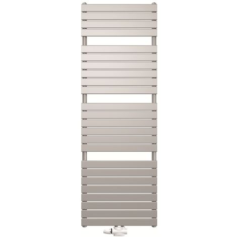 Stelrad Verona White Designer Heated Towel Rail 1446mm x 600mm - Dual Fuel - Thermostatic