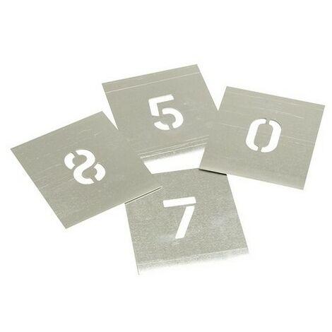 Stencils F112 Set of Zinc Stencils - Figures 1.1/2in