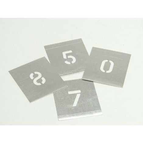 Stencils - Stencil in zinco da parete, motivo: numeri