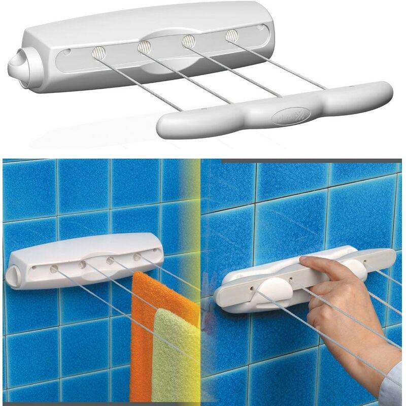 Stendibiancheria stendino stendipanni a parete soffitto a braccio gimi cm 120