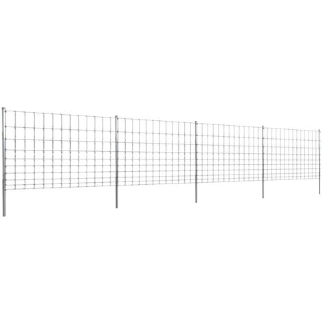 Step-In Fence with Posts Zinc-coated Iron 50 m 120/10/30