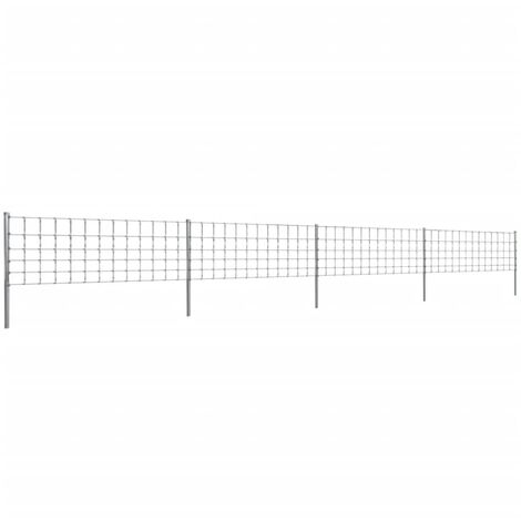 Step-In Fence with Posts Zinc-coated Iron 50 m 80/6/30