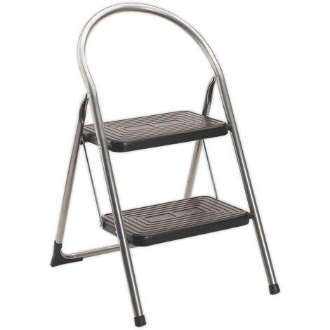 Step Stool 2-Tread 150kg Capacity EN14183