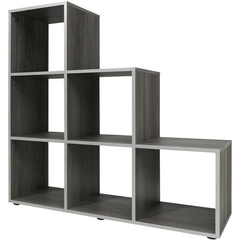 Step Storage Shelf Display Wooden 10 or 6 Cubes Bookcase Shelving Unit Oak White